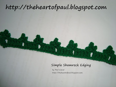 The Heart of Paul: Free Pattern: Simple Crocheted Shamrock Edging