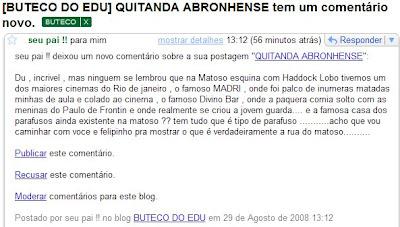 comentário de meu pai no BUTECO DO EDU, em 29 de agosto de 2008
