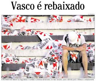 capa do jornal O GLOBO de 08 de dezembro de 2008