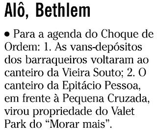 nota publicada na coluna GENTE BOA do jornal O GLOBO de 19 de agosto de 2009