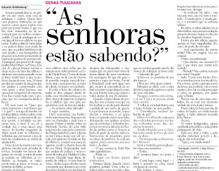 crônica publicada no JB de 12 de setembro de 2009