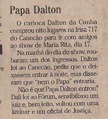 nota publicada no jornal O GLOBO em 22 de outubro de 2003