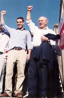 Brizola neto com seu avô, Leonel de Moura Brizola