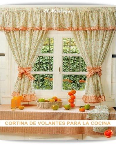 El minihogar for Cortinas para puertas de cocina