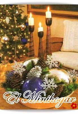 El minihogar - Como hacer centros de navidad con pinas ...