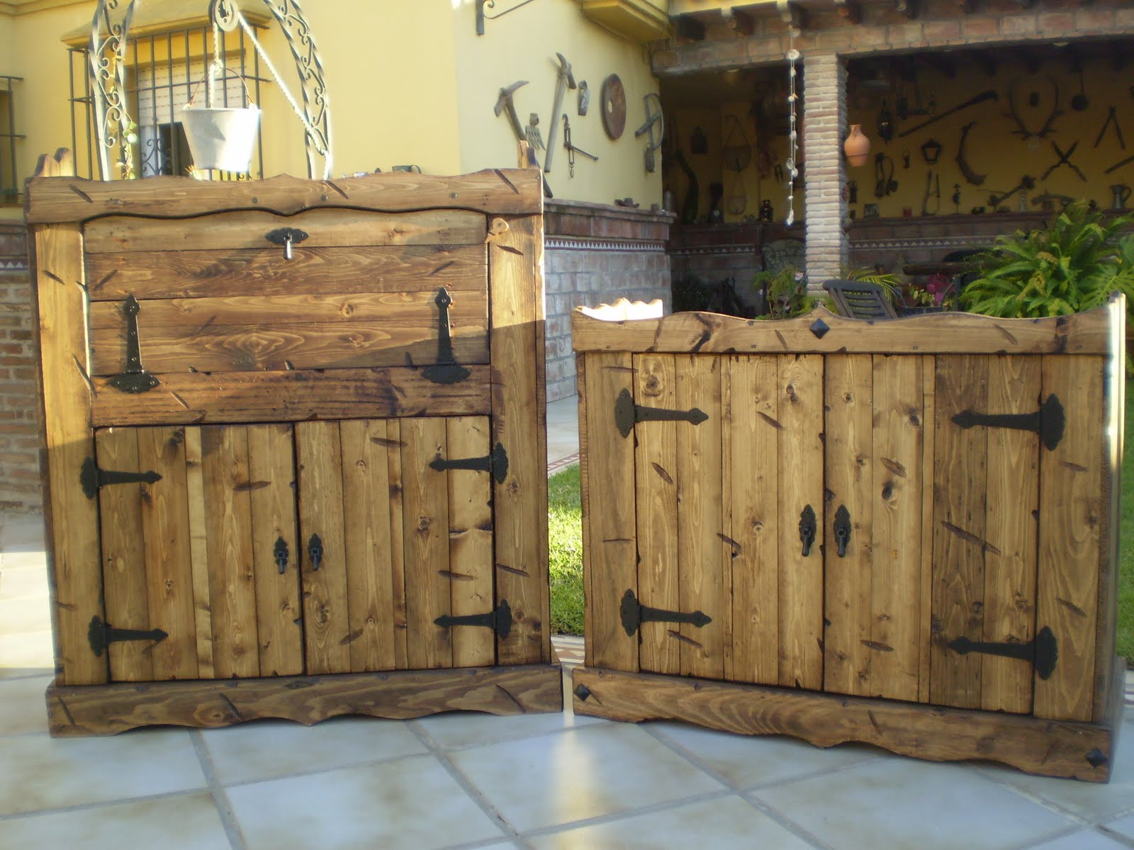 Pin fotos muebles rusticos hechos durmiente portal on for Pinterest muebles