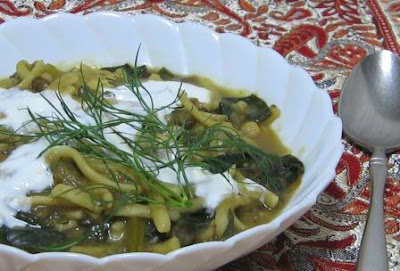 Persian New Year 3: Aash-e reshte (Iranian noodle soup with beans ...