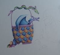 drawing of easter dragons copyright Jennifer rose phillip