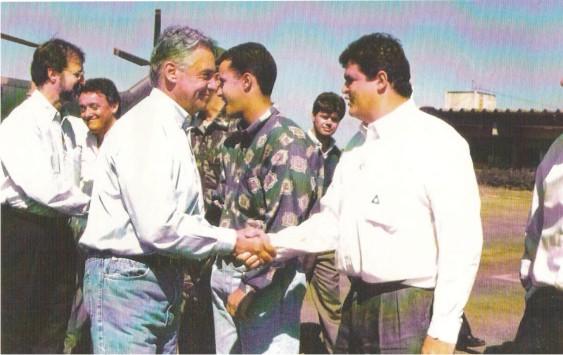 Flávio Madeira com o Presidente Fernando Henrique Cardoso