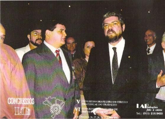 Dr.Flávio Madeira Superintendente do EPREMA com Antônio Brito Ministro da Previdência