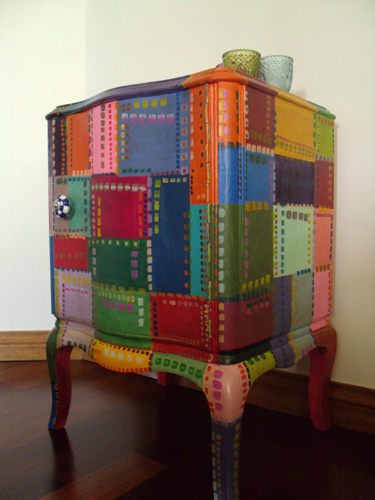 Vintouch muebles reciclados pintados a mano mesa de Muebles antiguos pintados a mano