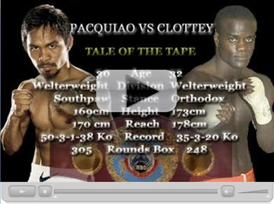 Manny Pacquiao vs Joshua Clottey Betting Odds Predictions » Pacquiao vs Clottey Live :  pacquiao vs predictions tv