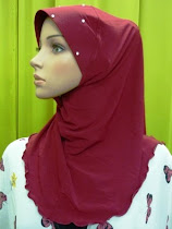 Tudung Lycra Diamond Plain Wavy