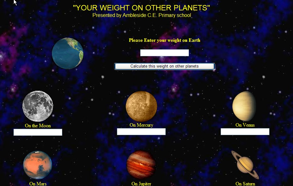 formula weight on other planets-#12