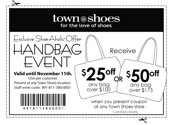 Coupons town shoes