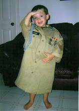 Elijah @ 3 , Your In The Army Now