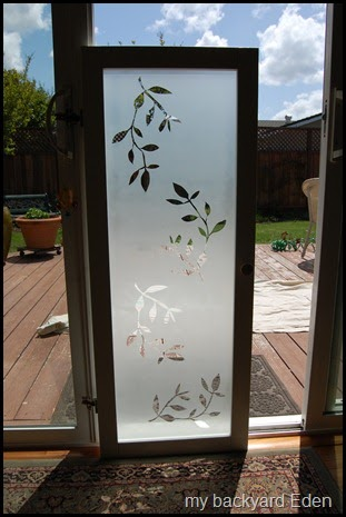 Be Different Act Normal Faux Etched Glass