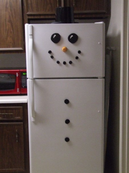 Be Different Act Normal Refrigerator Snowman