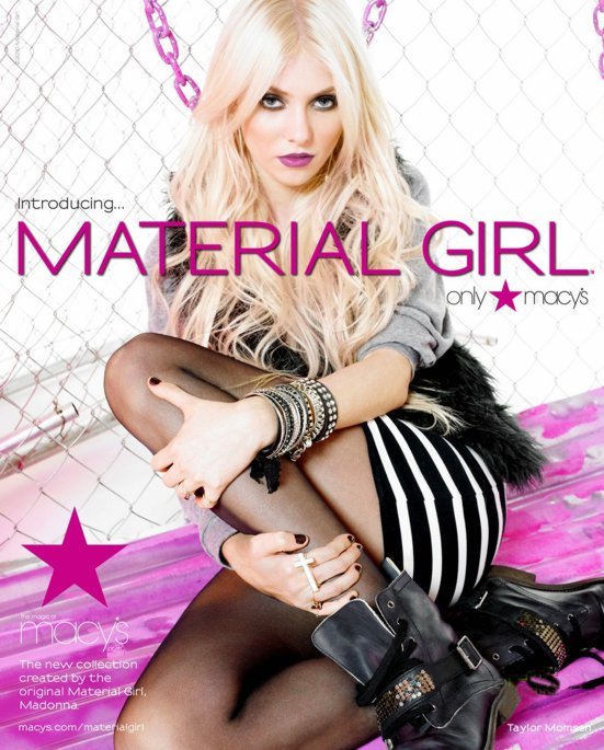 Taylor Momsen modelo de Material Girl