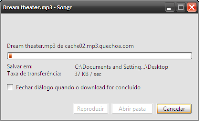 Como fazer download no songr