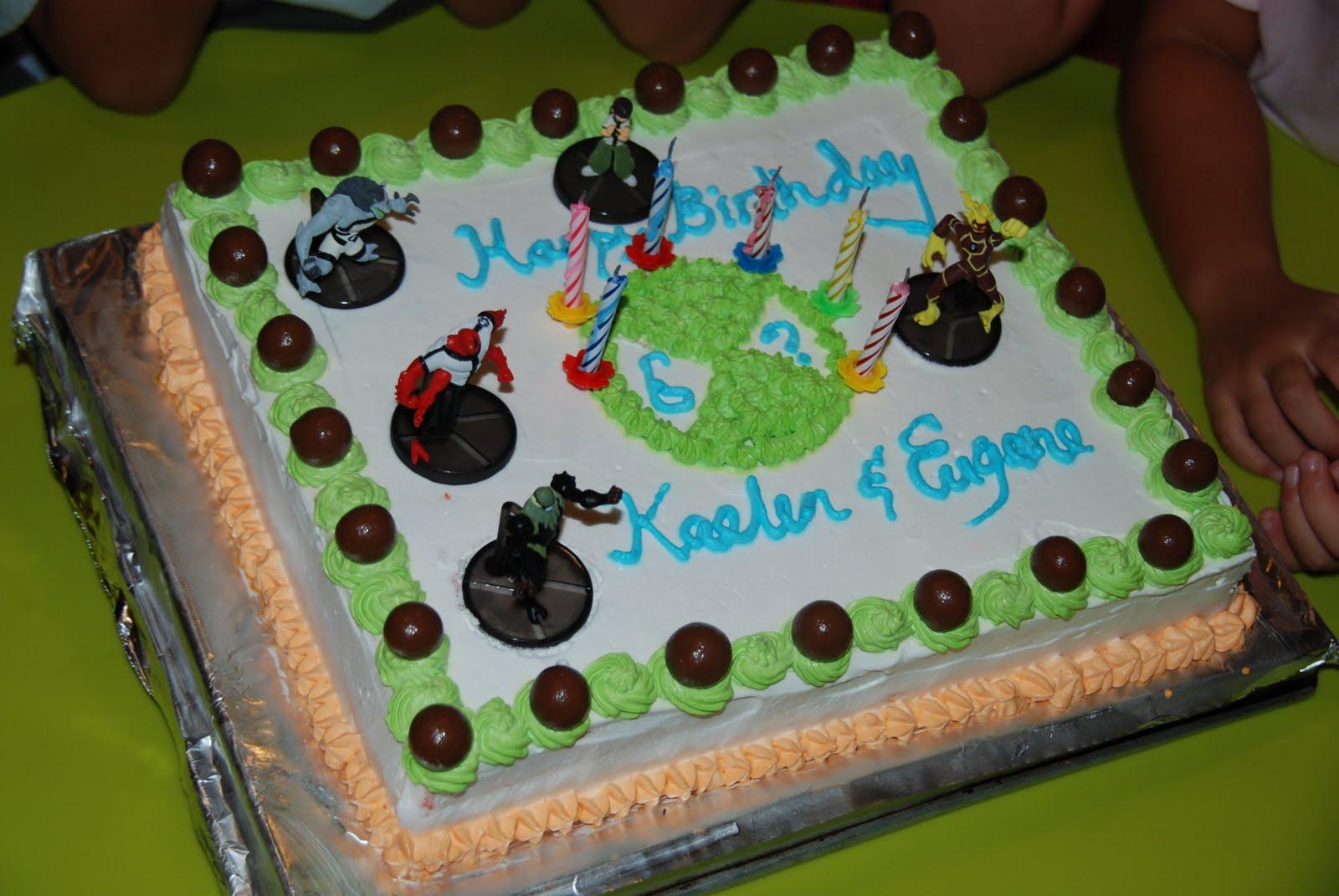 Yummy Tots Ben 10 Birthday Cake