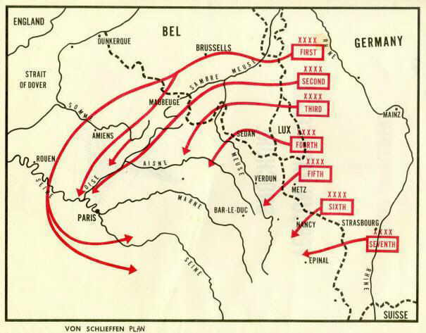 world war 1 map of battles
