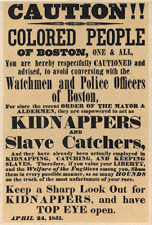slavery kidnap poster boston