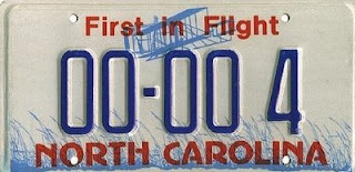 wright brothers first in flight license plate