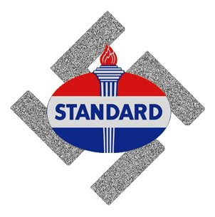 standard oil, logo, ig farben, swastika, rockefeller, nazi germany, cartel