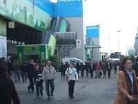 Vista do Vinitaly logo após a entrada