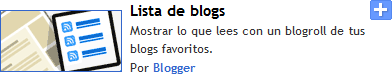 Lista de blogs con movimiento personalizable en blogger