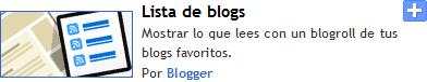 Lista de blogs con movimiento personalizable en blogger