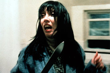 This is Shelley Duvall. She pretty much looks like this for the 144 minutes run time of