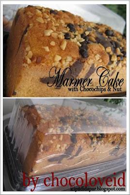 Cake Marmer atau Marble Cake sudah pernah aku posting resepnya.