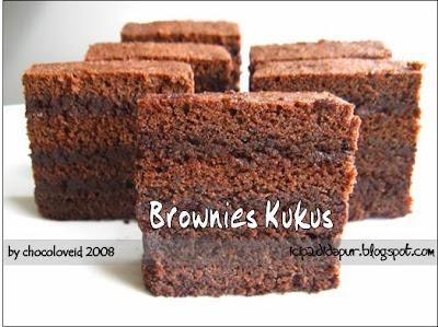 Resep BROWNIES KUKUS ISTIMEWA