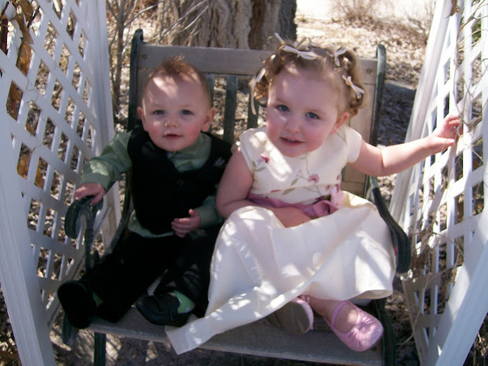 Carter and Gracie all dressed up