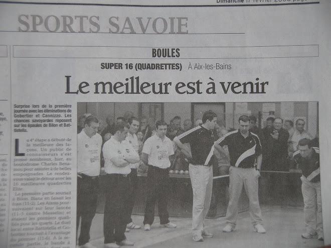 En première page du Dauphiné