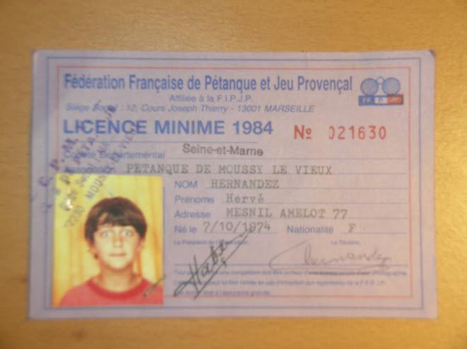 Ma première licence de pétanque