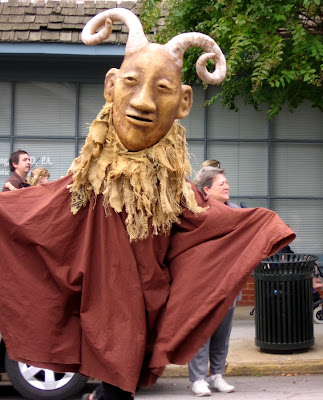 Horned God puppet made by Paperhand puppeteers at Hillsborough Handmade parade