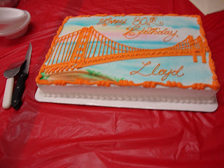 The Golden Gate Bridge with Happy 80th Birthday Lloyd