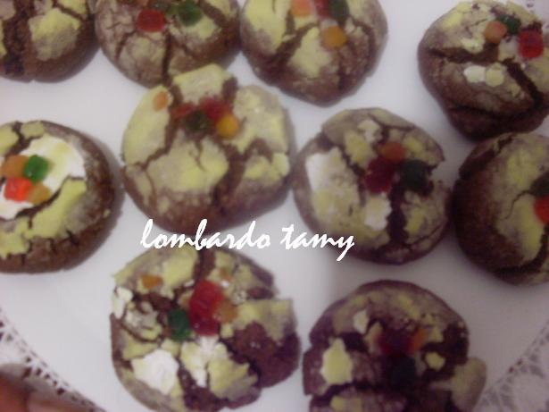 ghrieba au cacao  et noix en poudre  (teste) SDC16927