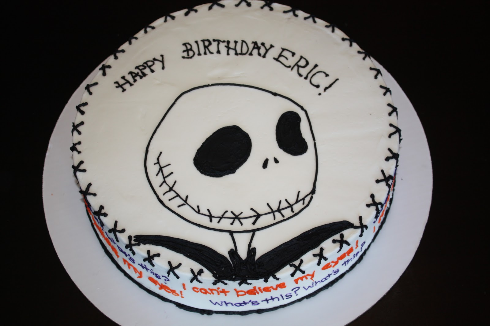 Christmas Cake Images With Quotes : Becca s Topsy Turvy Tales: Jack Skellington Cake in ...