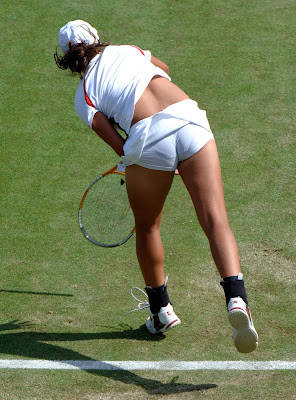 Tennis player panty upskirt