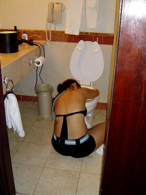 Panty at lavatory
