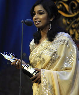 Shreya Ghoshal won the Best Playback Singer (Female) award for the song Teri Ore from Singh is Kinng