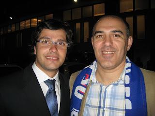 Luciano Rodrigues e Telmo Carvalho depois da vitória