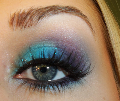 blue and purple makeup. Fun Blue amp; Purple Makeup