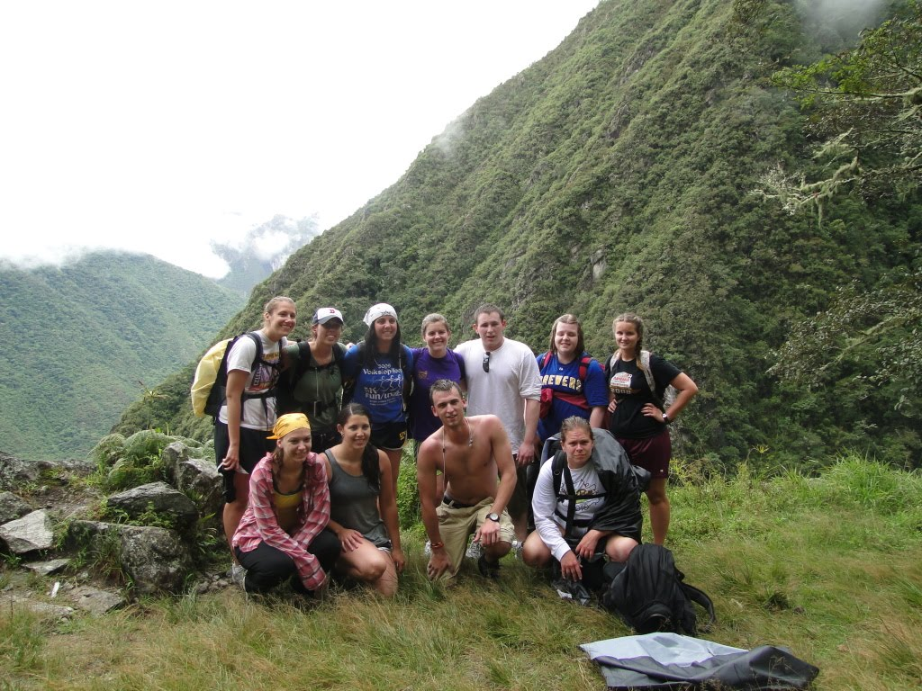 Students on Inca Trail