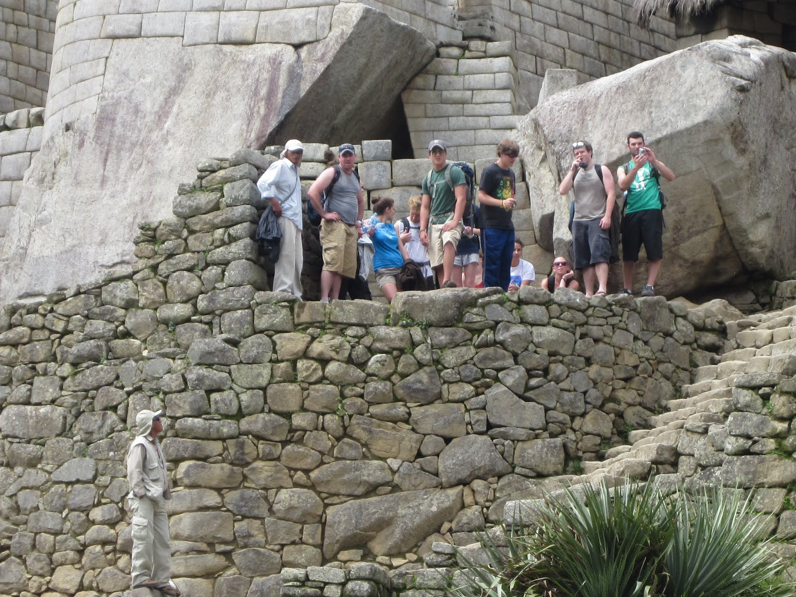 Students touring ruins