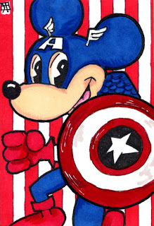 captain america, mickey mouse
